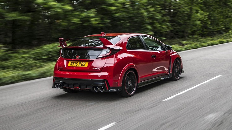 2017 Honda Civic Type R rear view