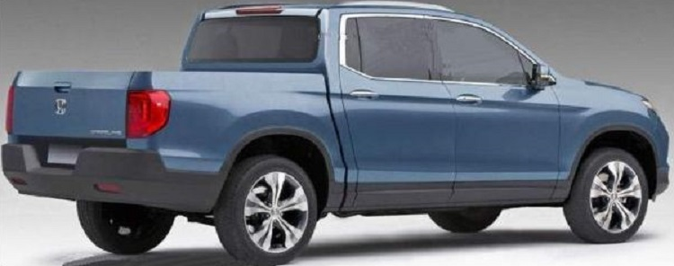 2017 Honda Ridgeline rear view