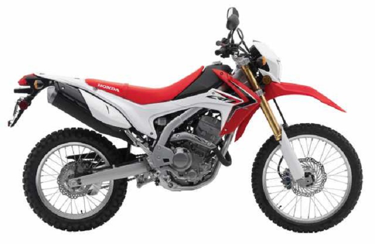 2016 Honda CRF250L side view