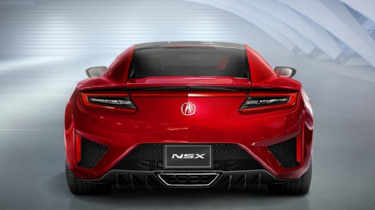 2017 Acura NSX Type R rear view
