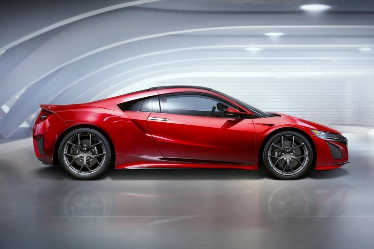 2017 Acura NSX Type R side view