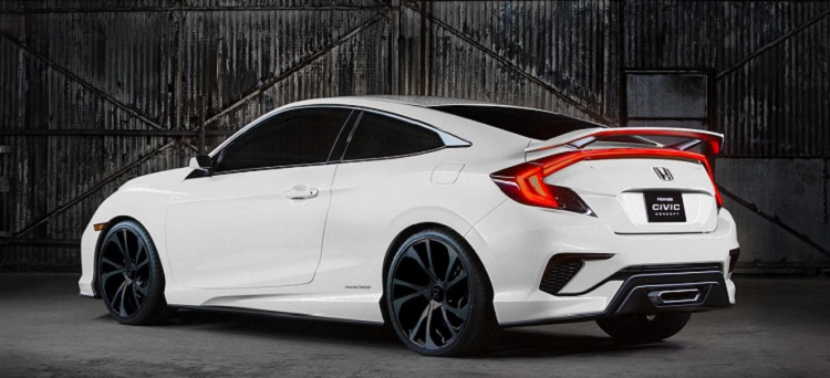 2018 Honda Civic Si rear view