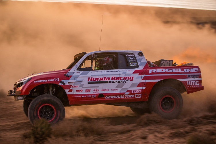 2016 Honda Ridgeline Baja Race Truck side view